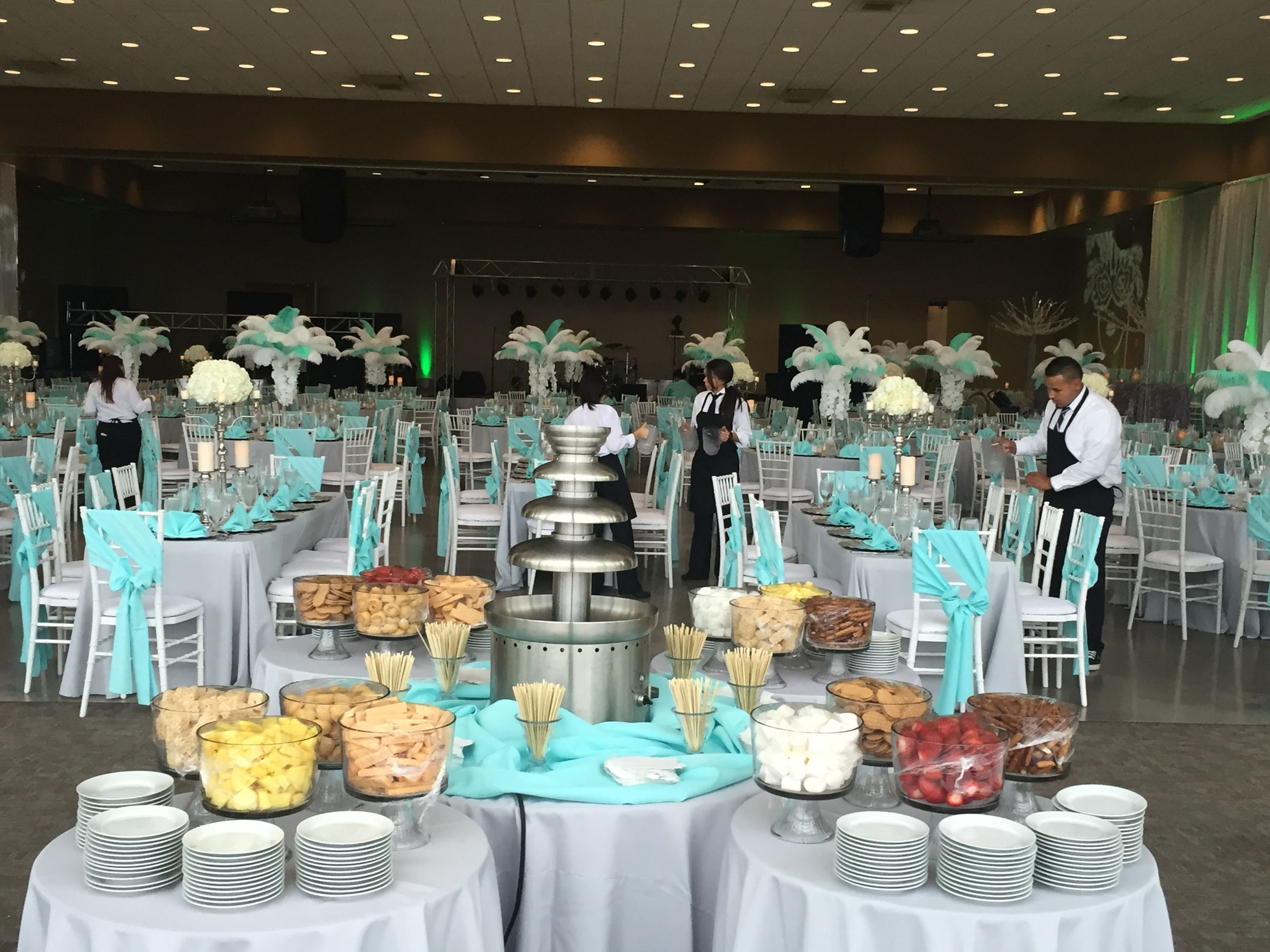 Wedding reception set-up in Hall A & B